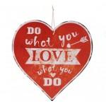 Decoratiune de agatat cu mesaj in forma de inima