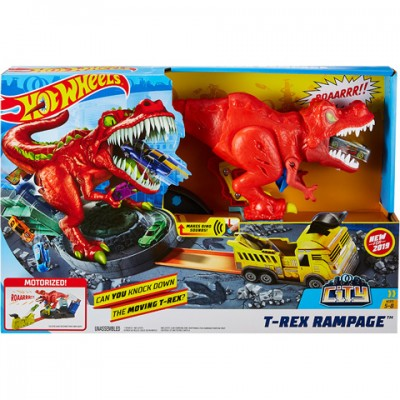 Set joaca Pista Hot Wheels T-Rex
