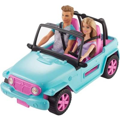 Set papusi si masina Barbie si Ken