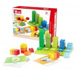 Joc de sortat cuburi pe numere si culori Invata matematica