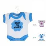 Semn cu ventuza in forma de mini tricou pentru masina Bebe la bord