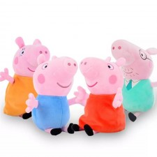 Set 4 jucarii din plus 40 cm Peppa Pig