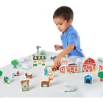 Set cuburi ferma animalelor - Melissa and Doug