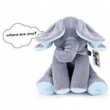 Elefantel Peek-a-Boo Albastru