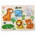 Puzzle 3D Compune Animalute din jungla Vivi Wood