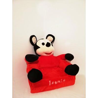 Fotoliu din plus Mickey 3D extensibil personalizat cu nume