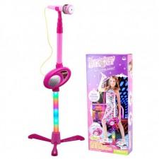 Microfon de jucarie luminos cu karaoke Girl