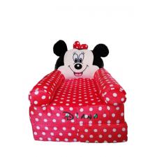 Fotoliu din plus Minnie Mouse extensibil XL personalizat cu nume
