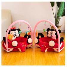 Fotoliu din plus bebe cu arcada si jucarii Minnie/Mickey Mouse