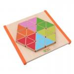 Puzzle din lemn Montessori Mozaic