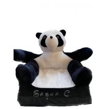 Fotoliu din plus extensibil Panda personalizat cu nume