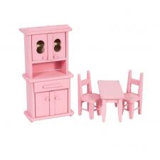 Mini bucatarie din lemn Pink