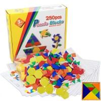 Joc Tangram din lemn XL 250 piese