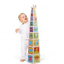 Turn din lemn - 10 cuburi