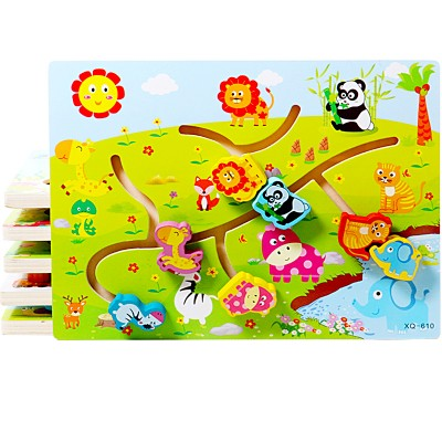 Puzzle labirint - Animale salbatice